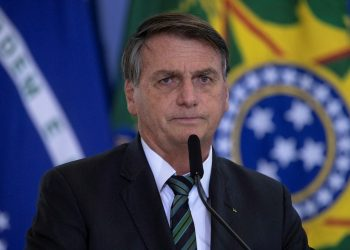 Imagen de archivo del presidente de Brasil, Jair Bolsonaro. Foto: Joédson Alves / EFE / Archivo.