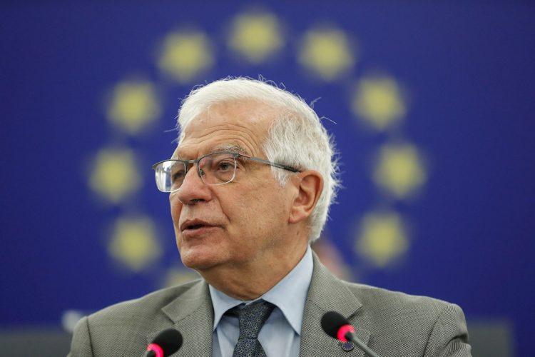 El alto representante de la Unión Europea para la Política Exterior, el español Josep Borrell, durante su intervención ante el Parlamento Europeo en Estrasburgo, Francia, el 8 de junio de 2021. Foto: Jean-Francois Badias / POOL / EFE/Archivo.
