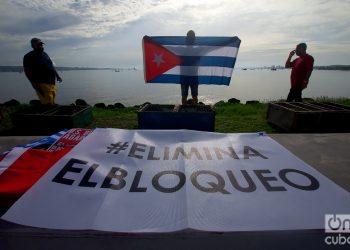 Jornada contra el bloqueo en Matanzas. Foto: Otmaro Rodríguez