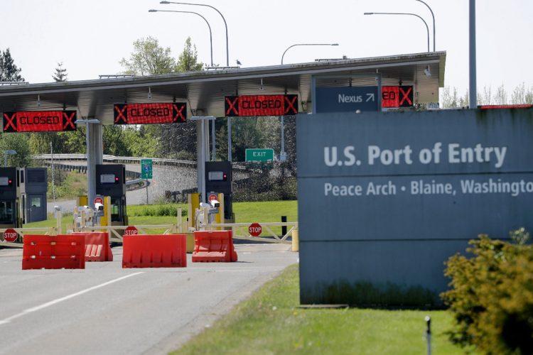 Uno de los puntos de la frontera EU/Canadá. Foto: Politico.