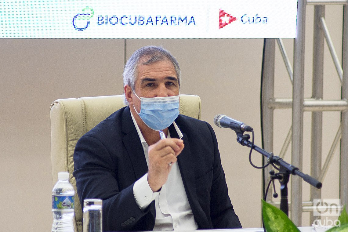 Dr. Eduardo Martínez, presidente del grupo estatal cubano BioCubaFarma. Foto: Otmaro Rodríguez.
