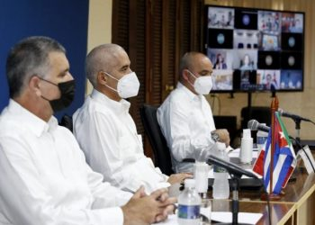 Participantes cubanos en el encuentro Cuba-México sobre temas migratorios. Foto: Cancillería de Cuba