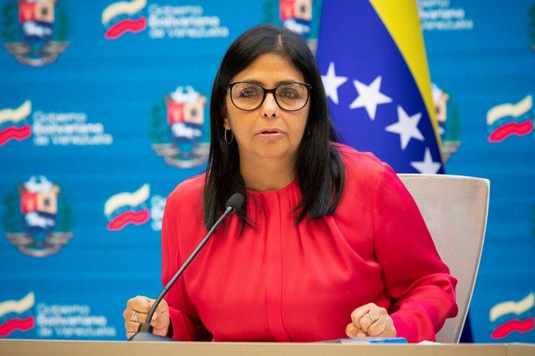 La vicepresidenta de Venezuela, Delcy Rodríguez. Foto: Rayner Peña / EFE / Archivo.