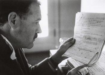 Ernest Hemingway, Sun Valley Idaho, 1940, foto de Robert Capa, vía: drayfish.wordpress.com
