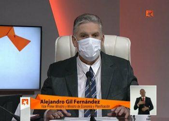 El viceprimer ministro y titular del Ministerio de Economía y Planificación (Mep), Alejandro Gil Fernández. Foto: Agencia Cubana de Noticias (Acn).