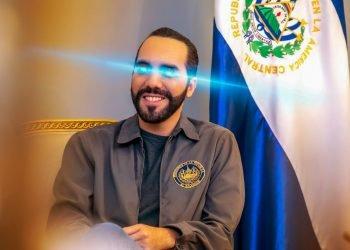 El presidente de El Salvador luce ojos de láser en su cuenta oficial de Twitter, un gesto ampliamente extendido en la comunidad de bitcoiners. Foto: @nayibbukele/Twitter.