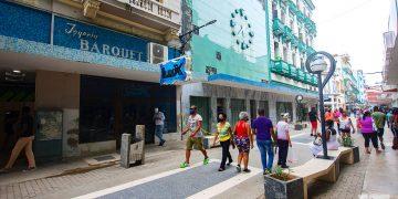 La joyería Letrán Isaac Barquet, hoy local de juegos electrónicos, en el boulevard de San Rafael, en La Habana. Foto: Otmaro Rodríguez.