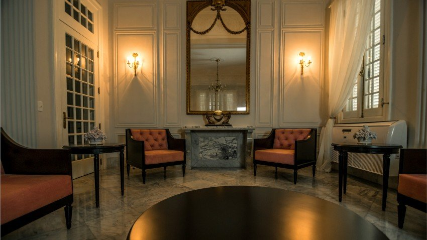 Interior of the Havana Government House of Protocol.