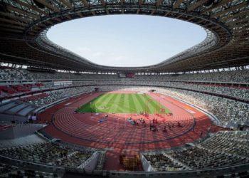 Evento de prueba de atletismo del Ready Steady Tokyo en el Estadio Nacional, el 9 de mayo de 2021 en Tokio. Foto: Toru Hanai/Getty Images, vía olympics.com