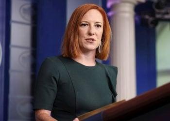 La portavoz de la Casa Blanca, Jen Psaki, durante una rueda de prensa el 14 de julio de 2021. Foto: Oliver Contreras / POOL / EFE.