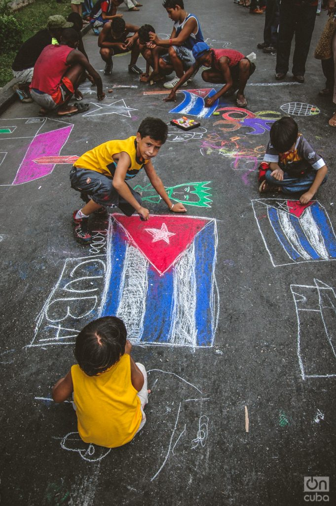 Painted on a street in Cuba. Photo: Kaloian Santos