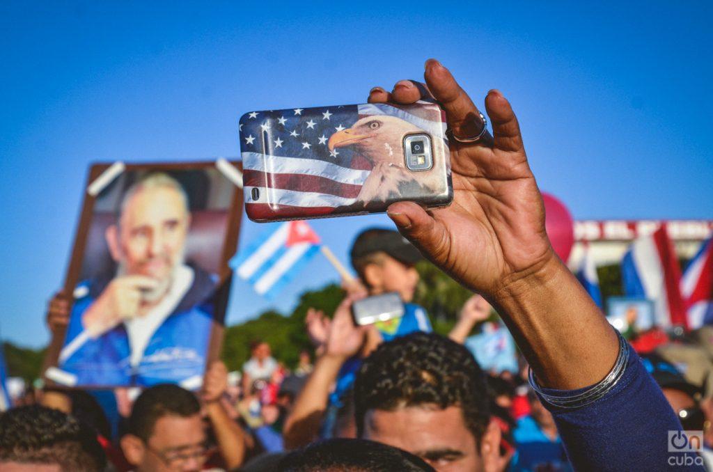 May Day parade in the Plaza de La Revolución in Havana. Photo: Kaloian Santos
