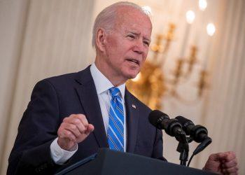 El presidente de EE.UU., Joe Biden, en un discurso en la Casa Blanca. Foto: Shawn Thew / EFE.