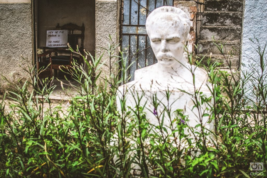A bust of José Martí in the Buena Vista neighborhood of Havana. Photo: Kaloian Santos