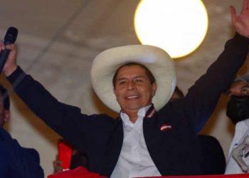 El maestro Pedro Castillo, nuevo presidente peruano. Foto: The Guardian.