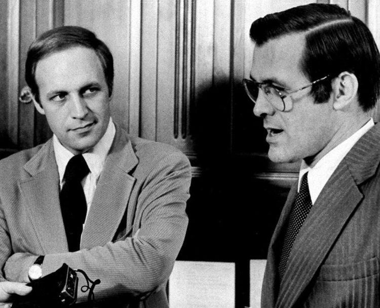 Dick Cheney, a la izquierda, junto a Donald Rumsfeld, cuando trabajaban en la administración de Gerald Ford, en 1975. Foto: Harvey Georges / AP / Archivo.