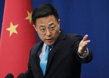 El portavoz del Ministerio de Relaciones Exteriores de China, Zhao Lijian. Foto: South China Morning Post.