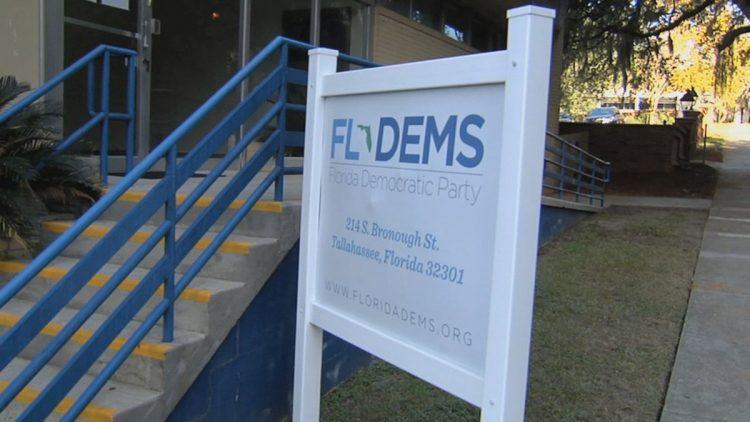 Sede del Partido Demócrata en Florida. Foto: WCTV.