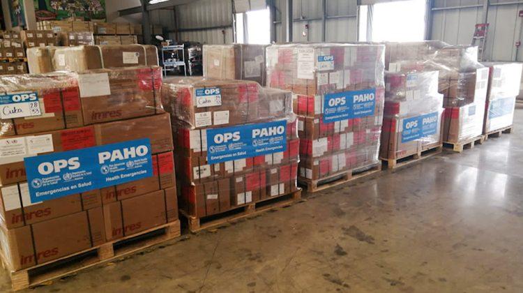 Donativo de la Organización Panamericana de la Salud (OPS) a Cuba, para el enfrentamiento a la COVID-19. Foto: @opscuba/Twitter.