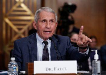El doctor Anthony Fauci en una intervención en el Congreso de EE.UU. sobre la pandemia de la COVID-19. Foto: J. Scott Applewhite / EFE / POOL.
