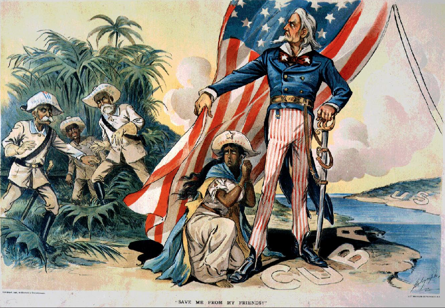 Illustration taken from the press at the end of the 19th century. (Archive). After the Spanish-Cuban-American War (1898), the Americans militarily occupied Cuba until 1902, when the Platt Amendment was incorporated into the Cuban Constitution, giving the U.S. government the right to intervene in Cuba's internal affairs.