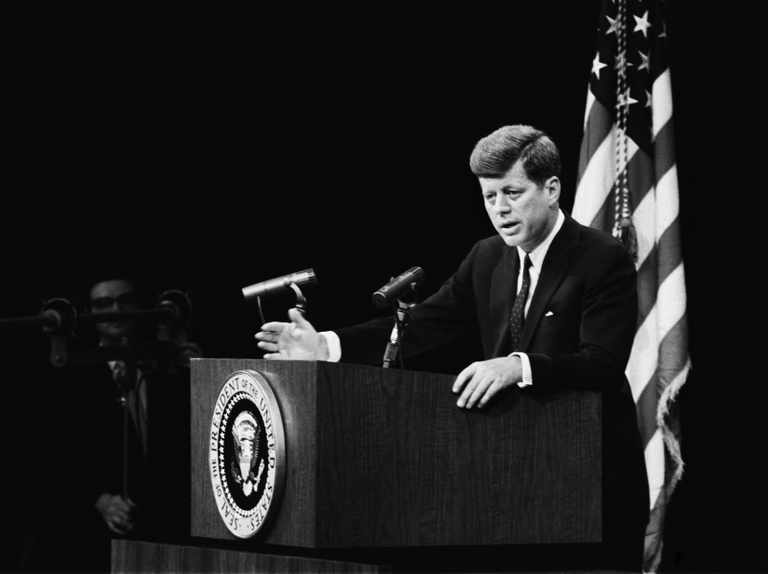 President John F. Kennedy (January 1961- November 1963). In 1961 Congress passed the Foreign Assistance Act which allowed the president to impose sanctions on Cuba in the context of the nationalizations that were taking place on the island. In February 1962, John F. Kennedy's administration expanded the embargo, extending restrictions on Cuban imports. Photo: Archive.