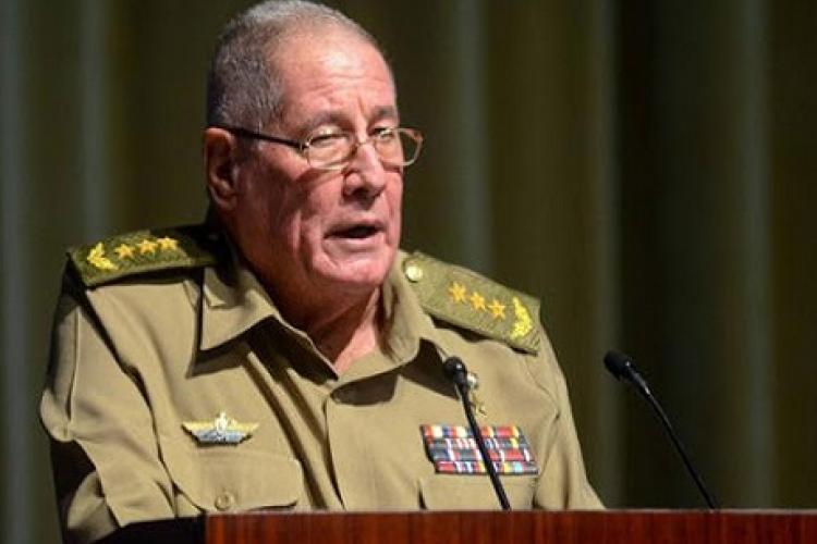 El ministro de las FAR, General de Cuerpo de Ejército Álvaro López Miera. Foto: PCC.