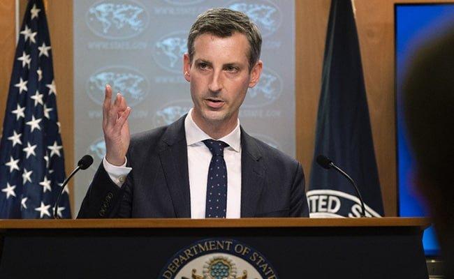 El portavoz del Departamento de Estado de EEUU, Ned Price. Foto: AP.