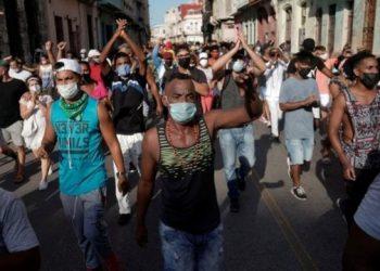 Las protestas en La Habana. Foto: BBC/Archivo.