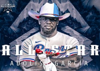José Adolis García ha escrito una de las más impresionantes páginas en el béisbol de Grandes Ligas durante el 2021 y por ello ha sido incluido en el roster de la Liga Americana para el Juego de las Estrellas.