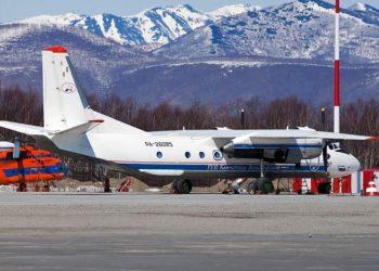 Avión como el accidentado en Rusia el 6 de julio de 2021. Foto: @aviacionhr_info / Twitter.