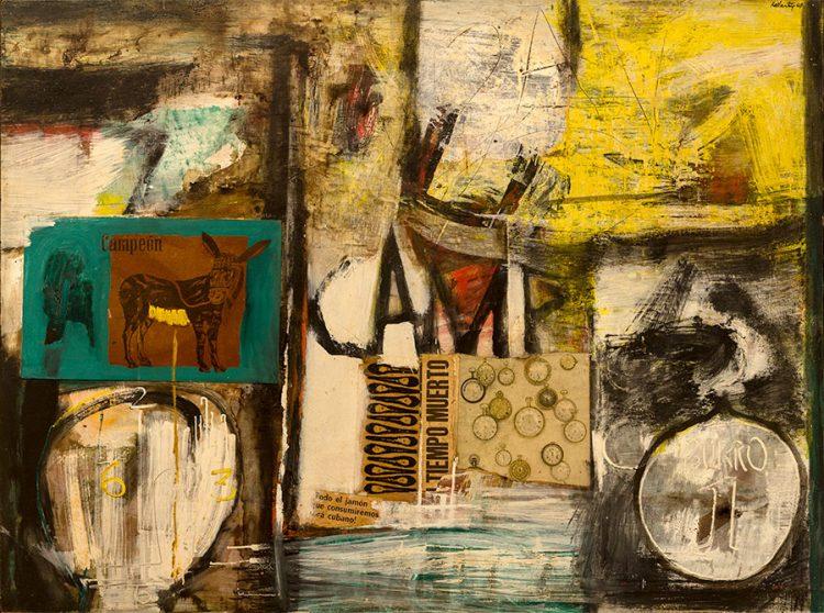 """""""Burro número 1"""", 1964. Raúl Martínez. Pieza que pertenece al Museo Nacional de Bellas Artes."""