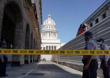 Una de las zonas donde el domingo se produjeron manifestaciones en Cuba. Foto, vía twitter.com/reuterssarah