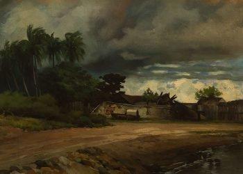 La Turbonada, Guillermo Collazo. Imagen tomada del Museo Nacional de Bellas Artes de Cuba.
