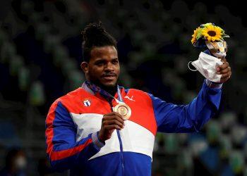 Reinieris Salas cierra su carrera con una histórica medalla de bronce en los Juegos Olímpicos de Tokio. Foto: Ritchie B. Tongo / EFE.