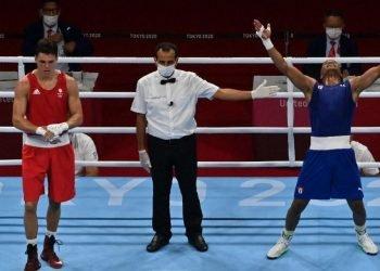 El welter Roniel Iglesias hoy le dio a Cuba la primera medalla de oro en boxeo. Foto: TRT.