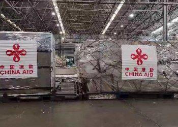 Concentradores de oxígeno chinos embalados para embarcarse. Foto: Ma Hui/Twitter.
