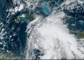 Imagen de satélite de la depresión tropical No. 9 de la temporada ciclónica. Foto: NOAA NWS national Hurricane Center/Facebook.