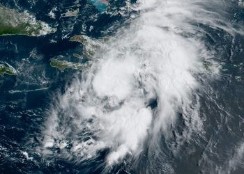 Imagen de satélite de la depresión tropical Grace. Foto: NOAA NWS national Hurricane Center/Facebook.