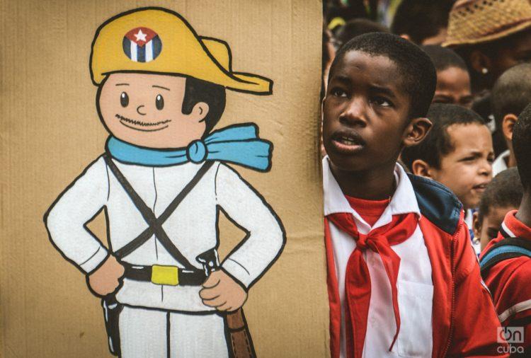 En la foto Elpidio Valdés, emblemático personaje cubano que representa a un mambí, creado por Juan Padrón. Foto: Kaloian Santos Cabrera.