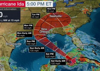 Mapa: The Weather Channel.