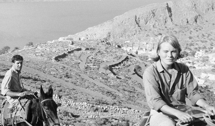 Cohen y Marianne, en Hydra. Años sesenta, del siglo XX.