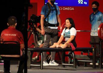 La parapesista cubana Leydi Rodríguez en los Juegos Paralímpicos de Tokio. Foto: @jit_digital / Twitter.