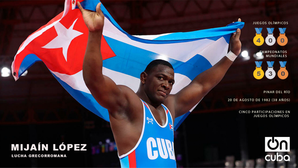 MIJAÍN LÓPEZ GRECO-ROMAN WRESTLING OLYMPIC GAMES WORLD CHAMPIONSHIPS PINAR DEL RÍO AUGUST 20, 1982 (38 YEARS OLD) FIVE PARTICIPATIONS IN OLYMPIC GAMES
