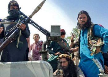 Los talibanes entran a Kabul. Foto: BBC.