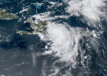 Imagen de satélite de la tormenta tropical Fred. Foto: NOAA NWS national Hurricane Center/Facebook.
