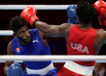 Andy Cruz derrotó este domingo 4-1 al estadounidense Keyshawn Davis. Foto: Ueslei Marcelino/Reuters.