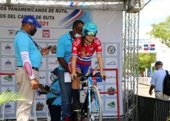 La ciclista cubana Aylena Quevedo, ganadora de dos cupos a los Juegos Panamericanos Junior. Foto: Jit.