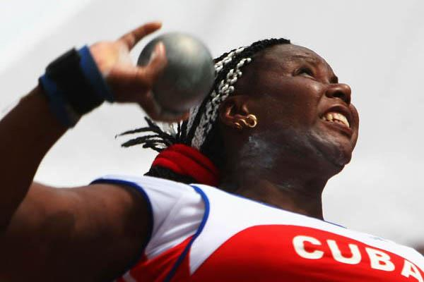 Yumileidi Cumbá, Cuba's first gold medalist at the Athens Games. Photo: Taken from World Athletics.