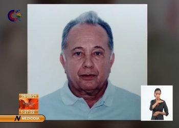 General de división de la reserva Félix Baranda Columbié. Foto: captura de pantalla de la emisión dominical del NTV.